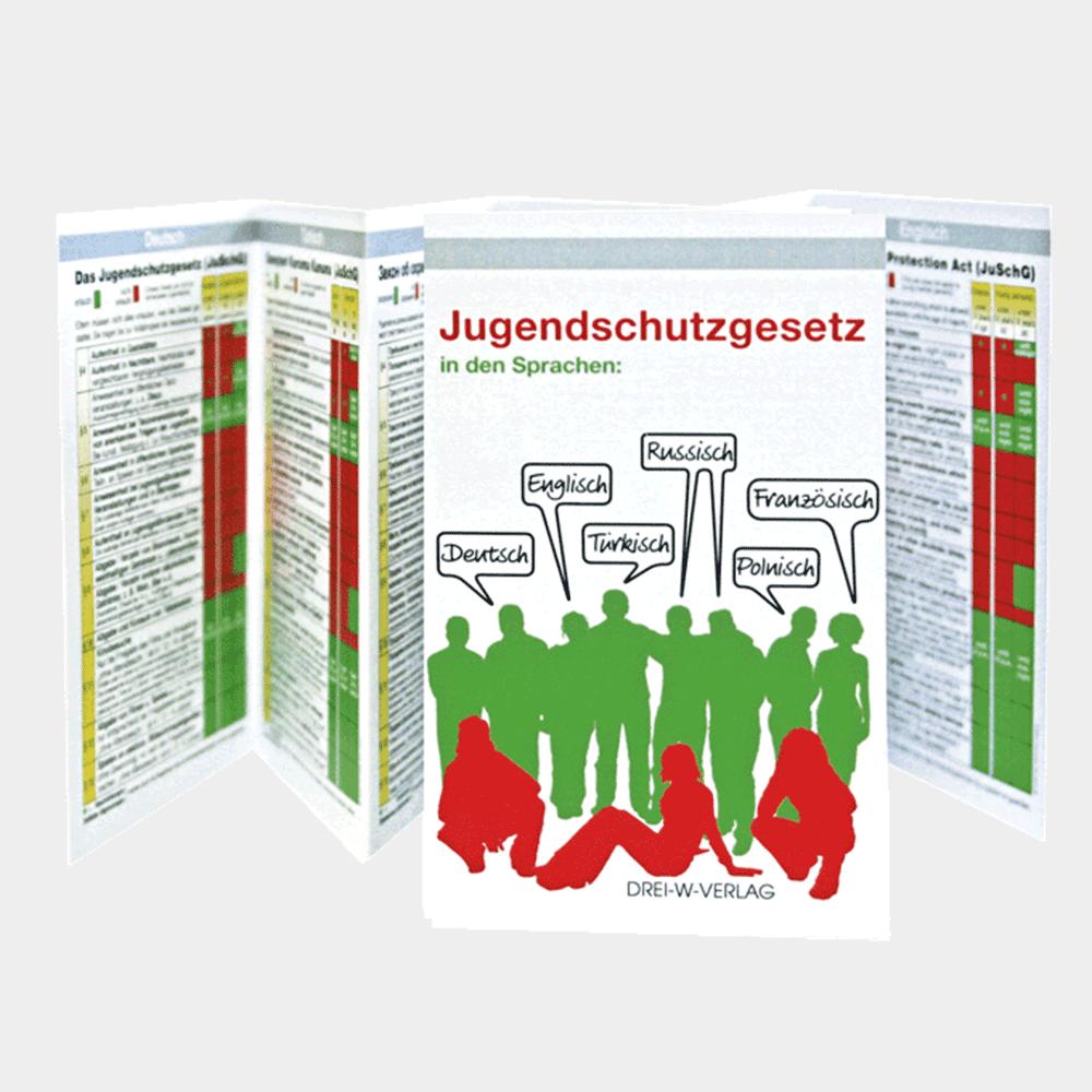 Jugendschutzgesetz in sechs/6 Sprachen