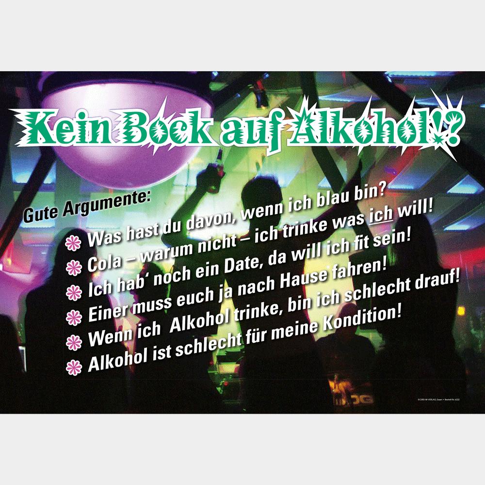 Plakat (DIN-A2) • Kein Bock auf Alkohol