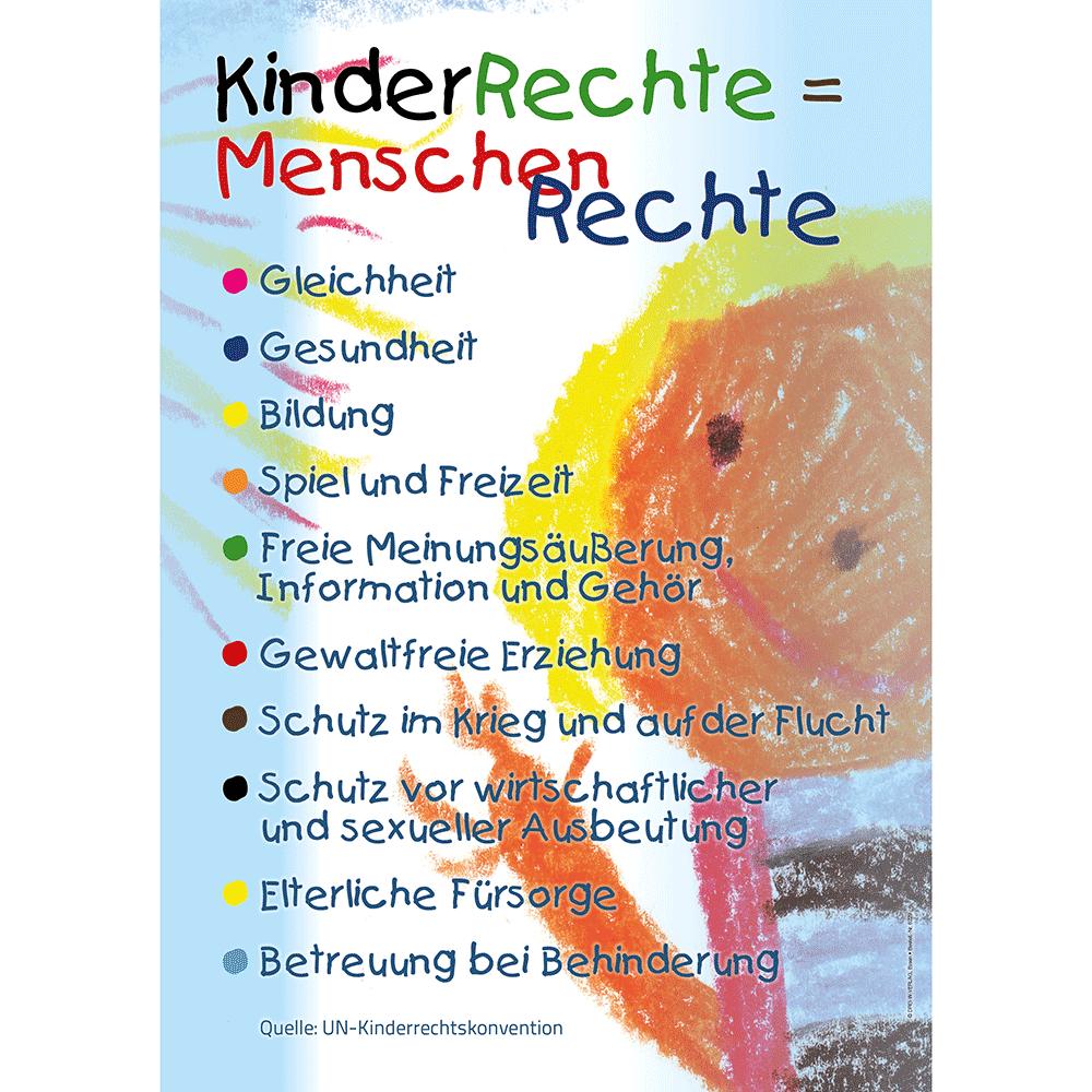Plakat (DIN A3) • Kinderrechte = Menschenrechte