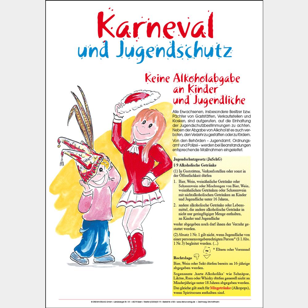 Aushang (DIN A4) • Karneval und Jugendschutz