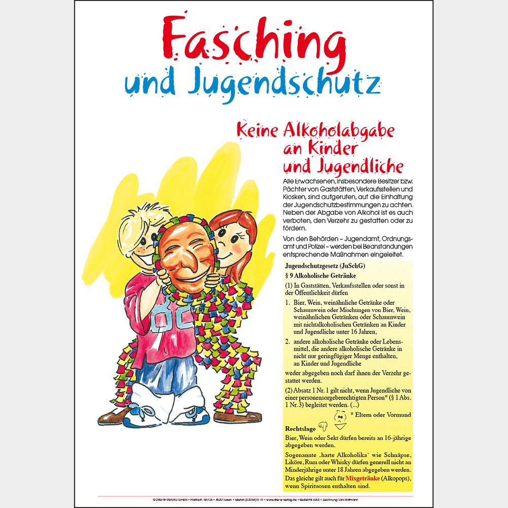 Plakat (DIN-A3) • Fasching und Jugendschutz