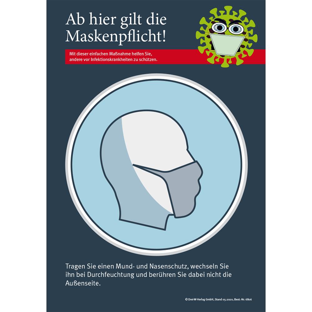 """Aushang (DIN-A3) • Corona Aushang """"Mund- und Nasenschutzpflicht"""""""